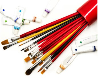 basic acrylic paintbrushes